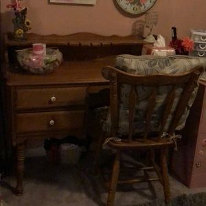 Antique desk and chair for only $40.00.